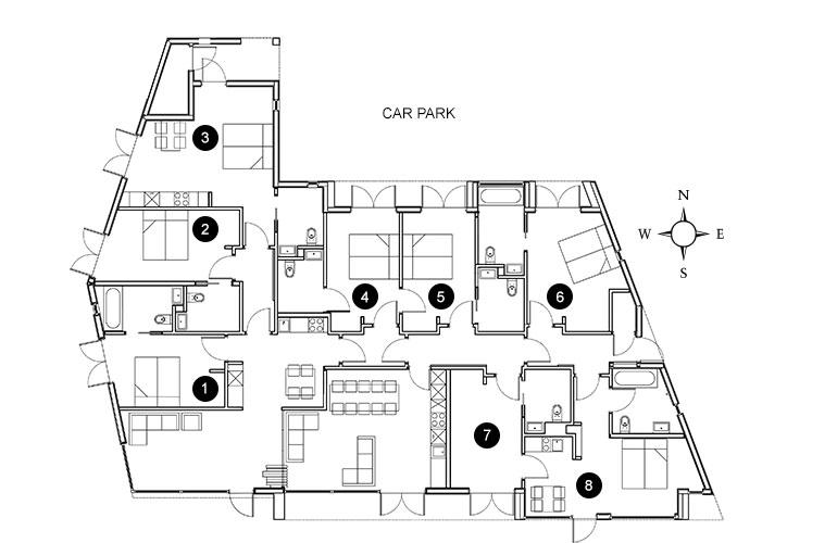 Floor plan of the Rings