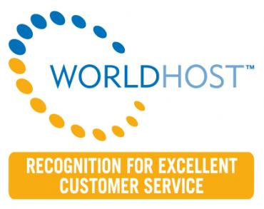 World Host recognition for excellent customer service